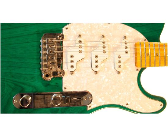 Электрогитара G&L ASAT Z3 (Clear Forest Green, maple, 3-ply Pearl) № CLF45565, фото 4
