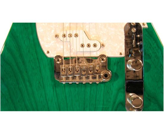 Электрогитара G&L ASAT Z3 (Clear Forest Green, maple, 3-ply Pearl) № CLF45565, фото 5