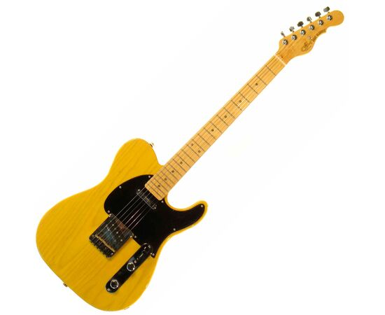 G&L ASAT CLASSIC ALNICO (Butterscotch Blonde, maple, 1-ply Black). № CLF067520, фото