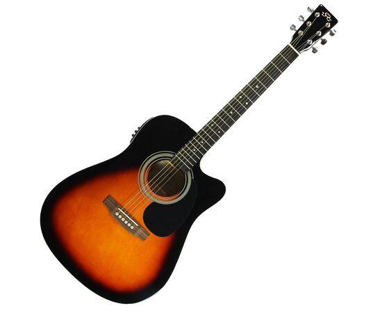 Акустическая гитара с вырезом и подключением SX MD160CE/VS, фото