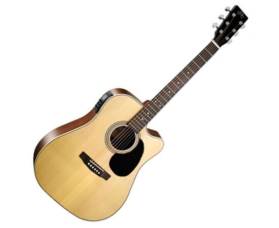 Акустична гітара з вирізом та підключенням SX MD180CE / NA, фото