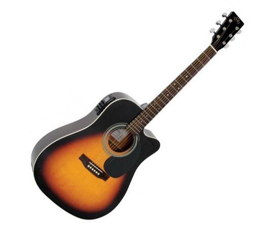 Акустическая гитара с вырезом и подключением SX MD180CE/VS, фото