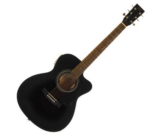 Акустична гітара з вирізом та підключенням SX OM160CE / BK, фото