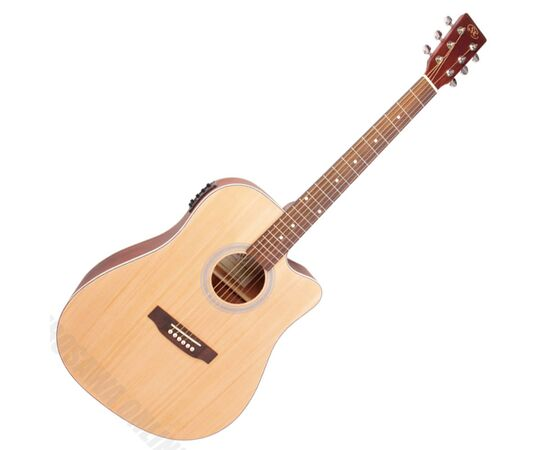 Акустична гітара з вирізом та підключенням SX SD204CE, фото
