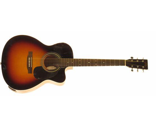 Акустическая гитара с вырезом и подключением SX OM160CE/VS, фото 3