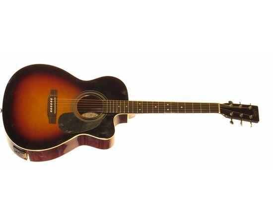 Акустическая гитара с вырезом и подключением SX OM160CE/VS, фото 4