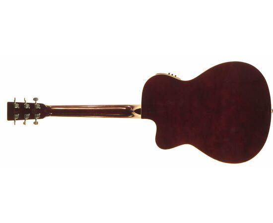 Акустическая гитара с вырезом и подключением SX OM160CE/VS, фото 5