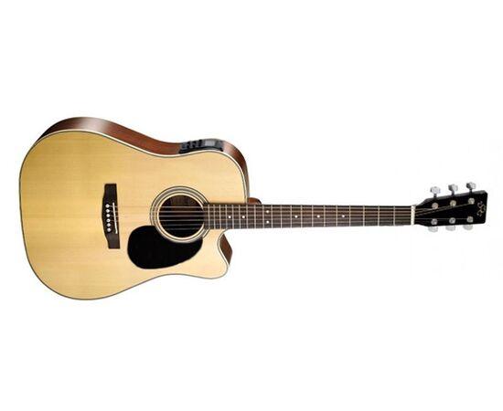 Акустична гітара з вирізом та підключенням SX MD180CE / NA, фото 2