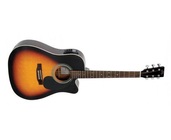 Акустическая гитара с вырезом и подключением SX MD180CE/VS, фото 2