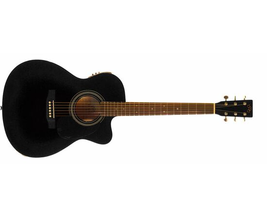 Акустична гітара з вирізом та підключенням SX OM160CE / BK, фото 2