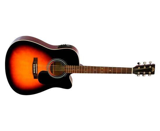 Акустическая гитара с вырезом и подключением SX MD160CE/VS, фото 3