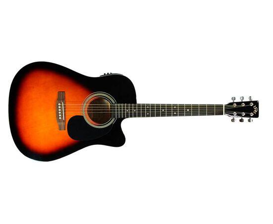 Акустическая гитара с вырезом и подключением SX MD160CE/VS, фото 2