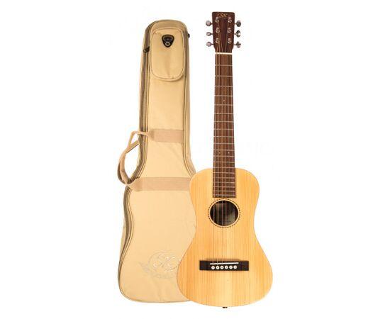 Дорожня акустична гітара з чохлом SX TG1, фото 5