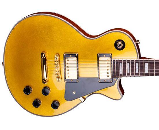 "Електрогітара (копія ""Gibson Les Paul Custom"") SX EH3-GD, фото 5"