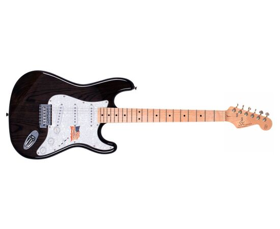 "Електрогітара (копія ""Fender Stratacaster"") SX FST / ASH / TBK, фото 2"