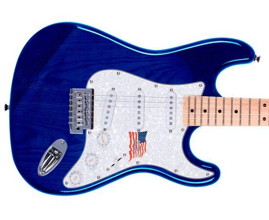 "Електрогітара (копія ""Fender Stratacaster"") SX FST / ASH / TBU, фото 3"