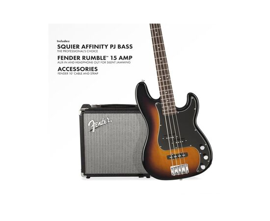 Гитарный набор SQUIER by FENDER PJ BASS PACK BROWN SUNBURST, фото 4