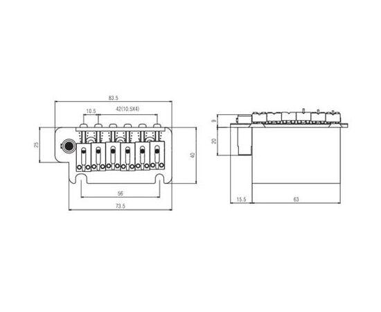 Бридж / Тремоло система PAXPHIL BS213 (CR), фото 2