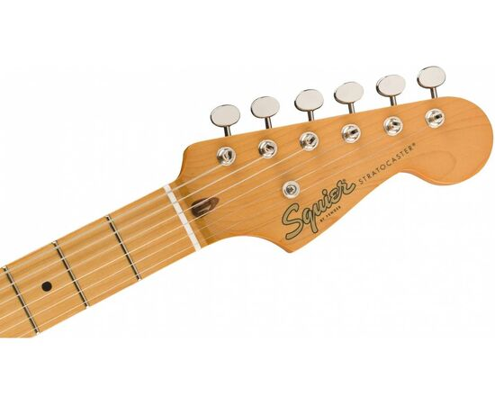Електрогітара SQUIER by FENDER CLASSIC VIBE '50S STRATOCASTER MAPLE FINGERBOARD, WHITE BLONDE, фото 5