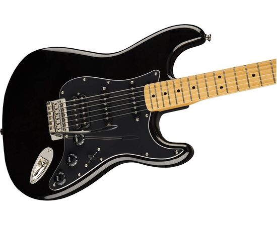 Электрогитара SQUIER by FENDER CLASSIC VIBE '70s STRATOCASTER HSS MN BLACK, фото 4