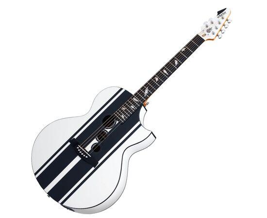 Акустическая гитара с вырезом и подключением SCHECTER DJ ASHBA ACOUSTIC SWHT, фото