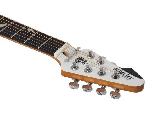 Акустическая гитара с вырезом и подключением SCHECTER DJ ASHBA ACOUSTIC SWHT, фото 10