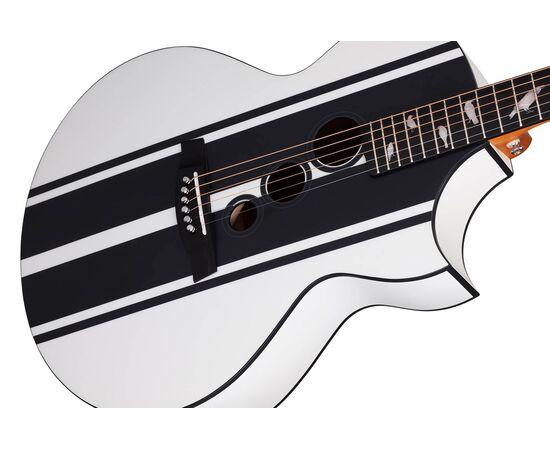 Акустическая гитара с вырезом и подключением SCHECTER DJ ASHBA ACOUSTIC SWHT, фото 4