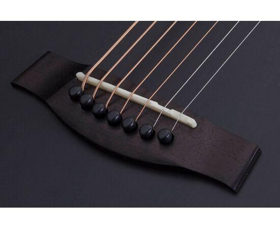 Акустична 7-й струнна гітара з вирізом та підключенням SCHECTER ORLEANS STAGE-7 SSTBLK, фото 7