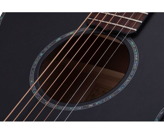 Акустична 7-й струнна гітара з вирізом та підключенням SCHECTER ORLEANS STAGE-7 SSTBLK, фото 8