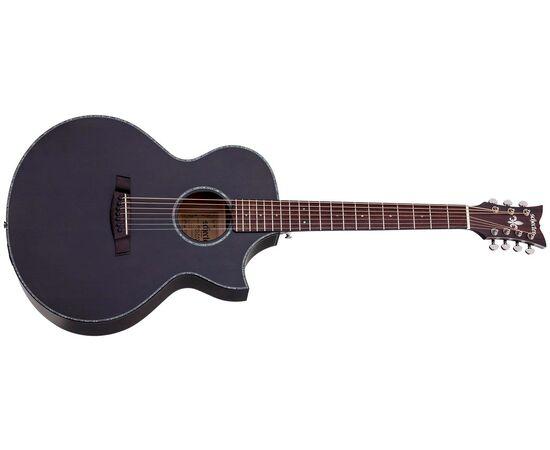Акустична 7-й струнна гітара з вирізом та підключенням SCHECTER ORLEANS STAGE-7 SSTBLK, фото 2