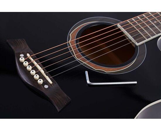 Акустическая гитара Alfabeto WL41 BK + чехол, фото 4