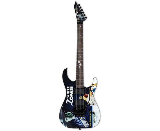 Электрогитара Kirk Hammett LTD KH-WZ White Zombie (Black w/Graphic), фото