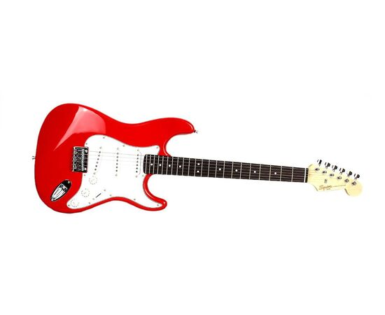 Електрогітара SQUIER by FENDER MM STRAT HT RED, фото