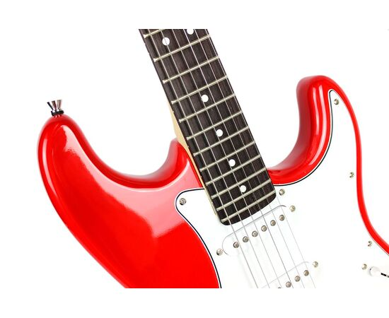 Електрогітара SQUIER by FENDER MM STRAT HT RED, фото 7