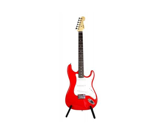 Електрогітара SQUIER by FENDER MM STRAT HT RED, фото 3