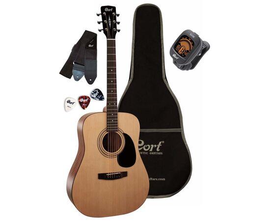 Акустична гітара c чохлом і аксесуарами CORT TRAILBLAZER PACK CAP-810 (Open Pore), фото
