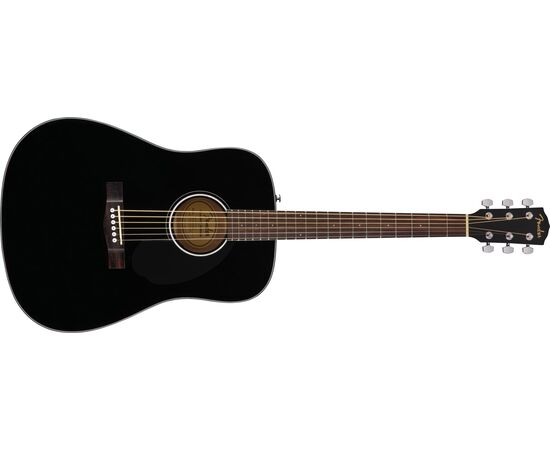 Акустическая гитара FENDER CD-60S BLACK WN, фото